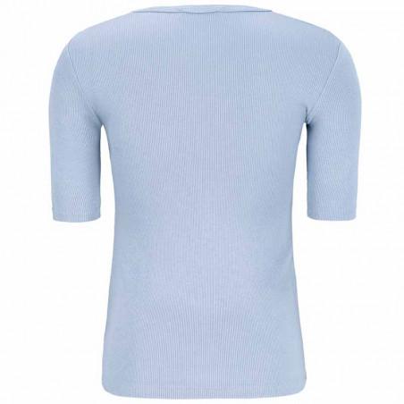 Soft Rebels Bluse, SRNorma Top, Zen Blue Softrebels t-shirt ryg