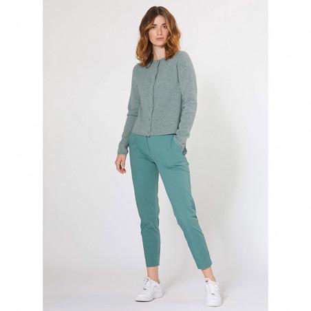 PBO Cardigan m/Kashmir, Nolana, Green PBO Fashion model