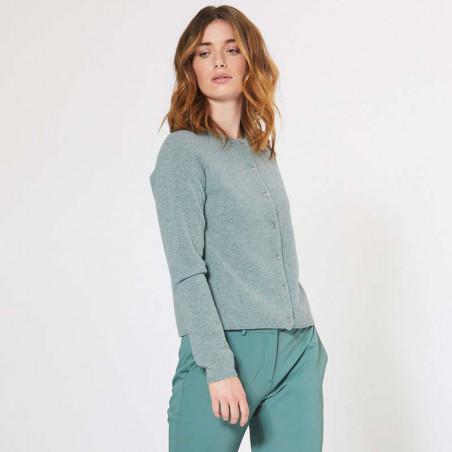 PBO Cardigan m/Kashmir, Nolana, Green PBO Fashion look
