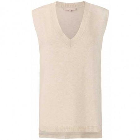 Soft Rebels Vest, SRMarla V-neck Loose Fit, Whitecap Gray
