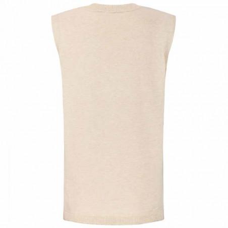 Soft Rebels Vest, SRMarla V-neck Loose Fit, Whitecap Gray ryg
