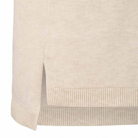 Soft Rebels Vest, SRMarla V-neck Loose Fit, Whitecap Gray slids detalje
