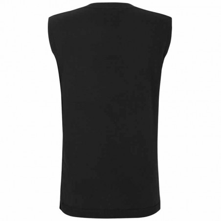 Soft Rebels Vest, SRMarla V-neck Loose Fit, Black strikvest detalje ryg
