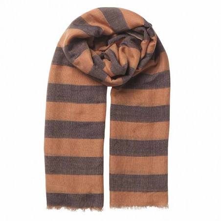 Beck Söndergaard Tørklæde, Liney Siw scarf, Muted Clay Beck Søndergård silke-bomulds tørklæde