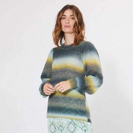 PBO Strik bluse, Arista Pullover, Multi  PBO tøj til kvinder look