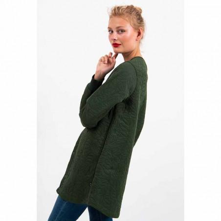 Danefæ Jakke, Maude Thermo Coat, Dark Khaki model fra siden