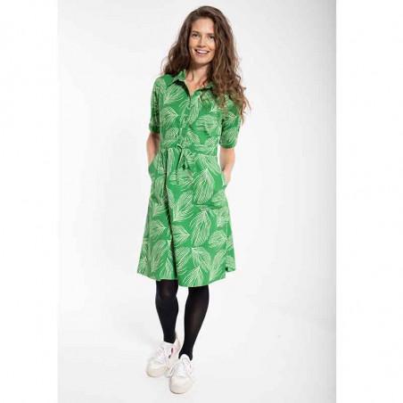 Danefæ Kjole, Susanne dress, Green Chalk Palma på model