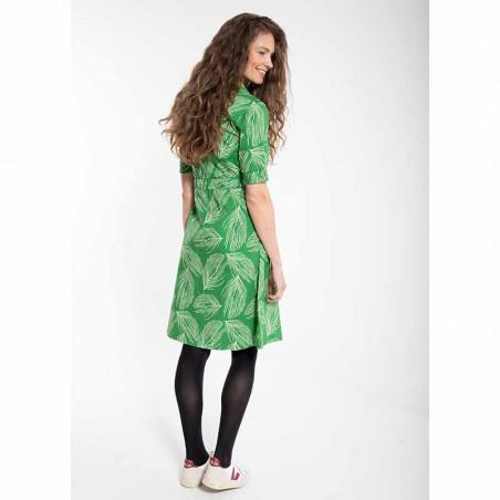 Danefæ Kjole, Susanne dress, Green Chalk Palma på model bagfra