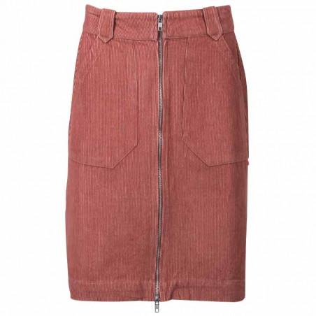 Danefæ Nederdel, Madelaine Cord, grey Rose Fløjls nederdel