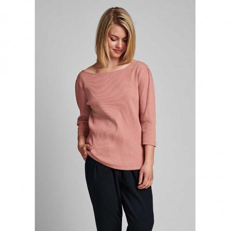 Nümph T-shirt, Nudari, Ash Rose numph bluse rosa på model