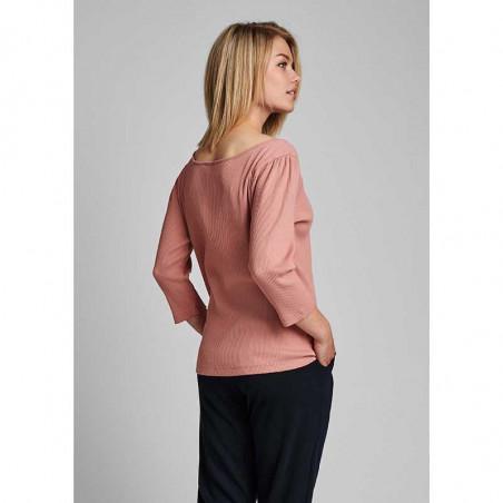 Nümph T-shirt, Nudari, Ash Rose numph bluse rosa på model bagfra