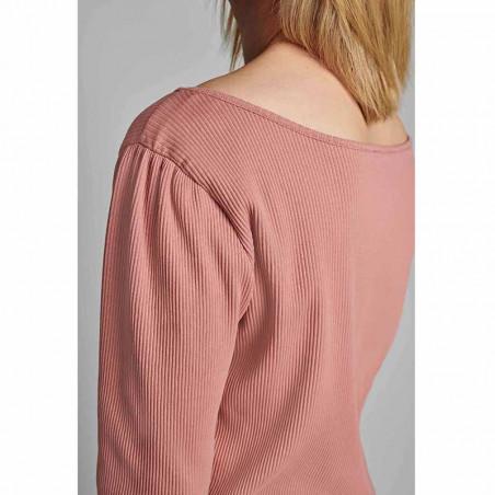 Nümph T-shirt, Nudari, Ash Rose numph bluse rosa på model detalje
