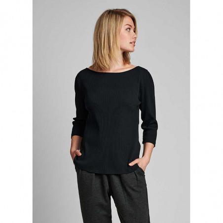 Nümph T-shirt, Nudari, Caviar Numph bluse på model