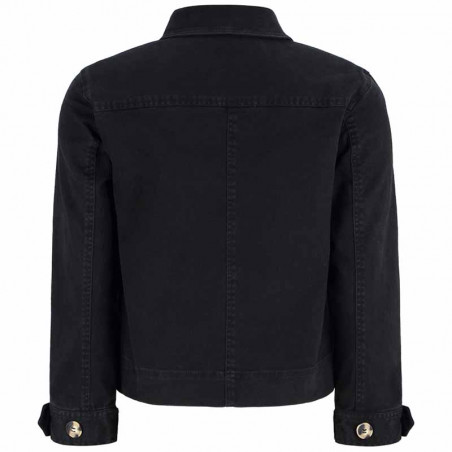 Soft Rebels Jakke, SRLauren LS Short Loose, Black Twill Jacket ryg