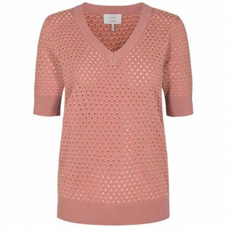 Nümph Bluse, Nybrynn V-Neck, Ash Rose numph strik pullover