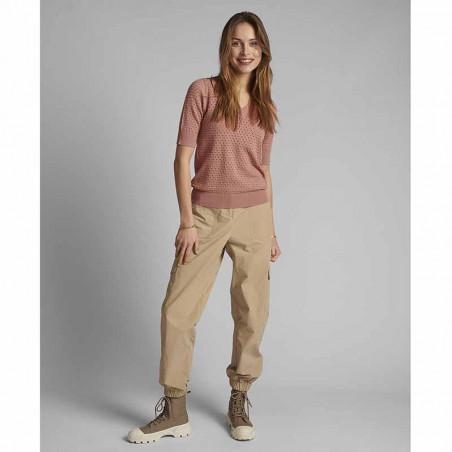 Nümph Bluse, Nybrynn V-Neck, Ash Rose numph strik pullover look