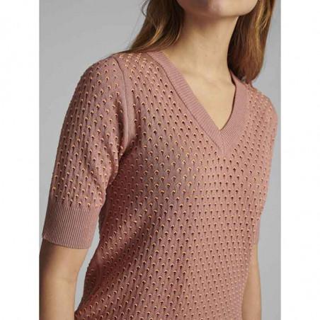 Nümph Bluse, Nybrynn V-Neck, Ash Rose numph strik pullover detalje