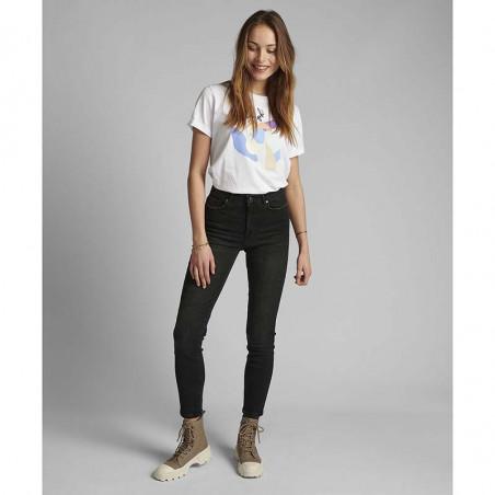 Nümph Jeans, Nucanyon, Caviar Numph sorte jeans på model look
