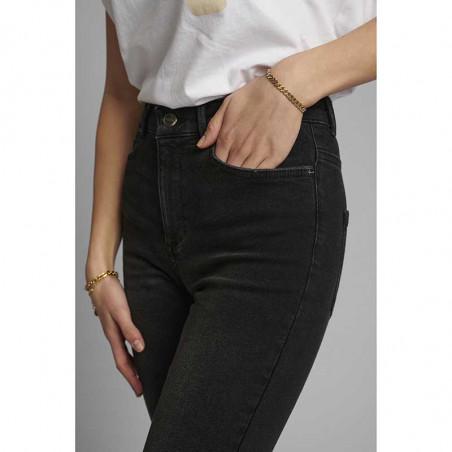Nümph Jeans, Nucanyon, Caviar Numph sorte jeans lomme detalje