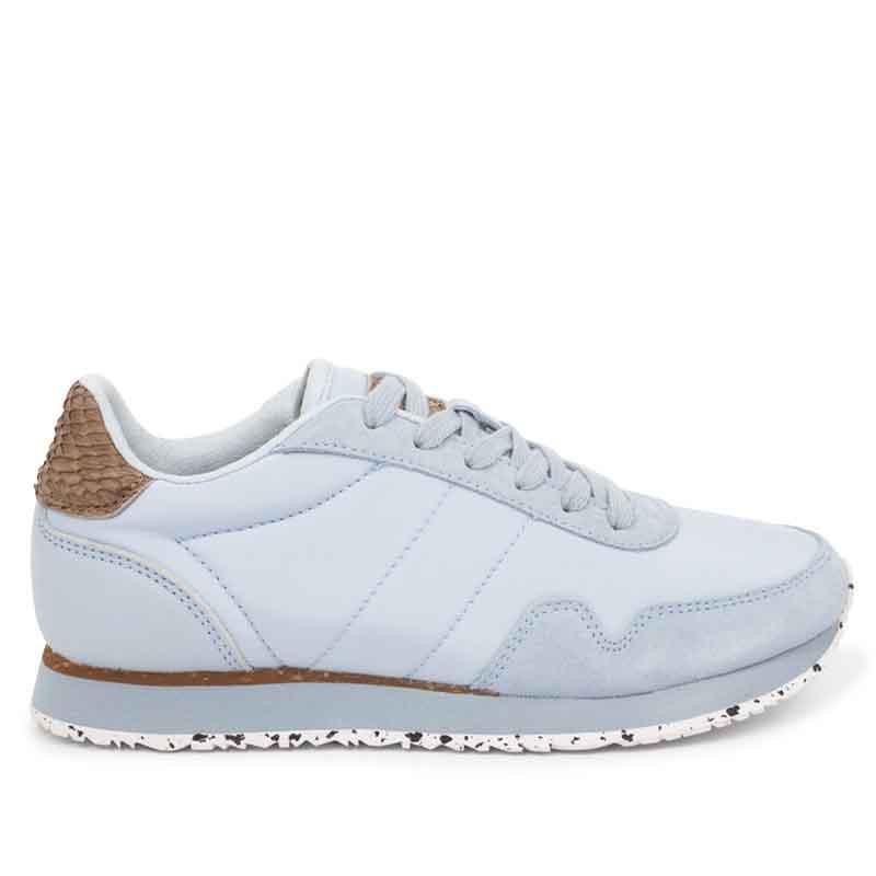 Woden Sneakers, Nora III Leather, Ice Blue Woden sneakers til kvinder