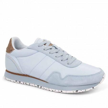 Woden Sneakers, Nora III Leather, Ice Blue Woden sneakers fra siden