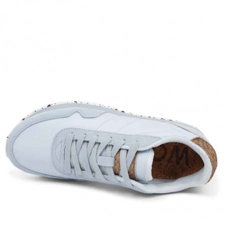 Woden Sneakers, Nora III Leather, Ice Blue Woden sneakers set oppefra