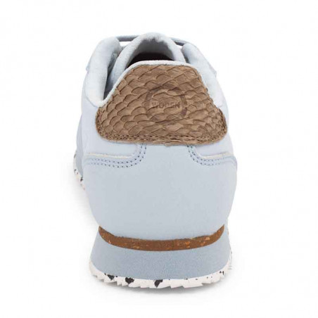 Woden Sneakers, Nora III Leather, Ice Blue Woden sneakers hælkappe med fiskeskind og kalvelæder
