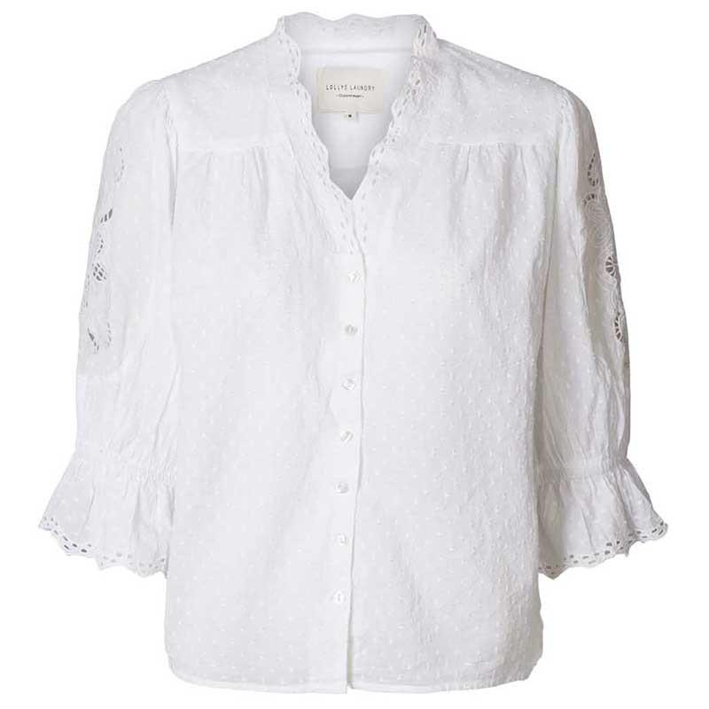Lollys Laundry Bluse, Charlie Top, White Lollyslaundry tøj til kvinder