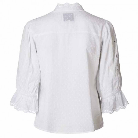Lollys Laundry Bluse, Charlie Top, White ryg