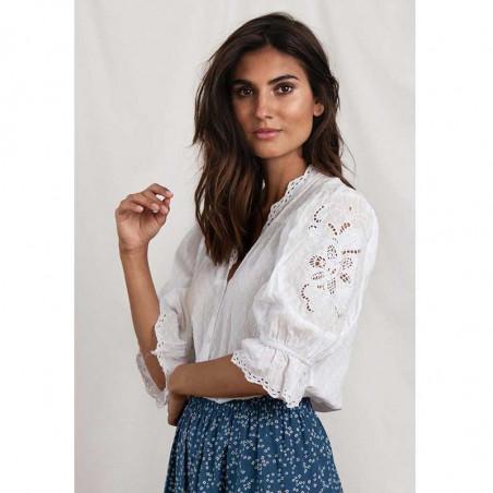 Lollys Laundry Bluse, Charlie Top, White på model look