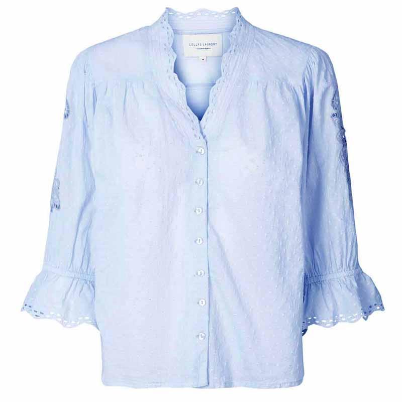 Lollys Laundry Bluse, Charlie Top, Light Blue Lollyslaundry tøj til kvinder