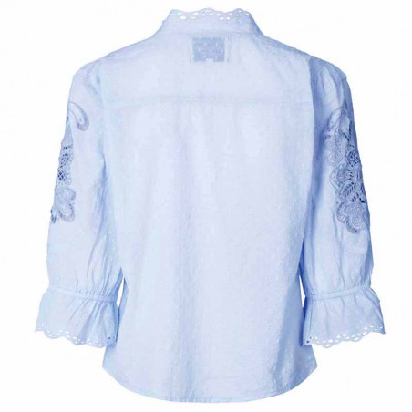 Lollys Laundry Bluse, Charlie Top, Light Blue ryg