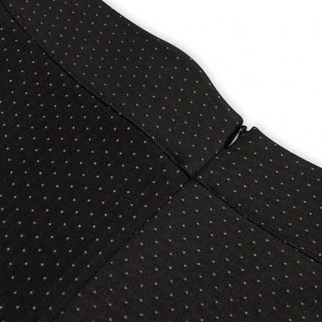 Mads Nørgaard Nederdel, Stelly C Recy, Black/Beige Dot Mads Nørgård stelly skirt lynlås