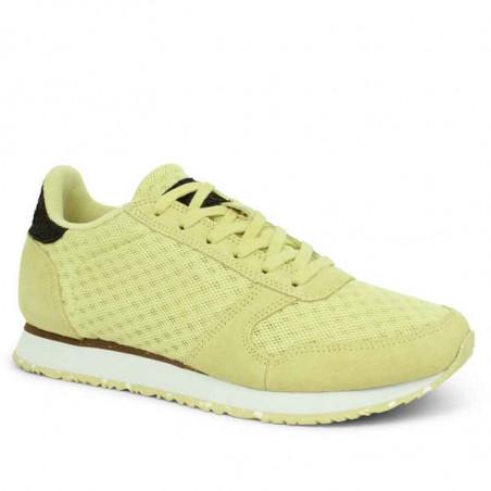 Woden Sneakers, Ydun Suede Mesh II, Lemongrass Woden Dk dame sneakers side