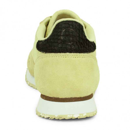 Woden Sneakers, Ydun Suede Mesh II, Lemongrass Woden Dk dame sneakers hælkappe