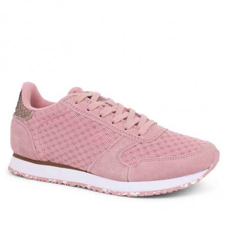 Woden Sneakers, Ydun Suede Mesh II, Soft Pink Woden Dk dame sneakers med ruskind