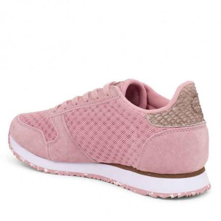 Woden Sneakers, Ydun Suede Mesh II, Soft Pink Woden Dk dame sneakers med fiskeskind