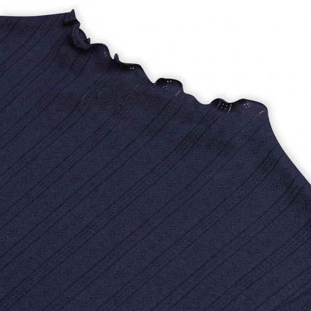 Mads Nørgaard Bluse, Pointella Trutte, Navy Mads Nørgård t-shirt detalje