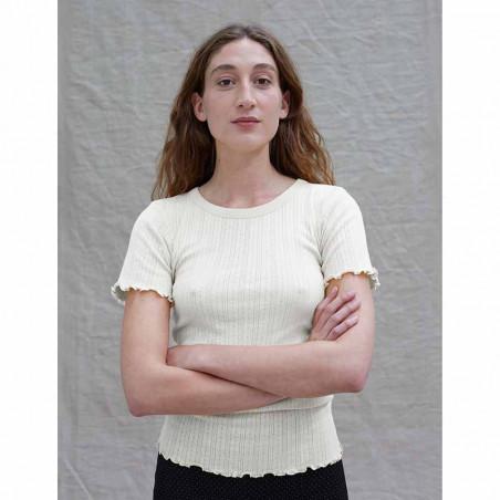 Mads Nørgaard T-shirt, Pointella Trixa, Off White Mads Nørgård t-shirt model