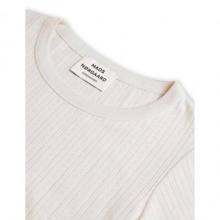 Mads Nørgaard T-shirt, Pointella Trixa, Off White Mads Nørgård t-shirt detalje