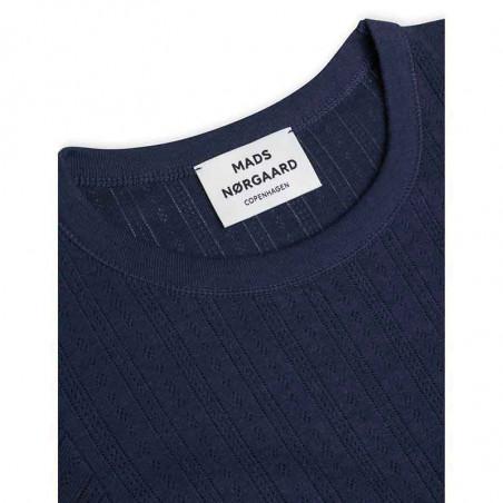 Mads Nørgaard T-shirt, Pointella Trixa, Navy Mads Nørgård t-shirt detalje