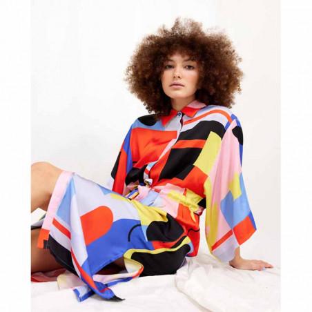 Hunkøn Kimono, Raquel, Square Art Print Hunkøn tøj look