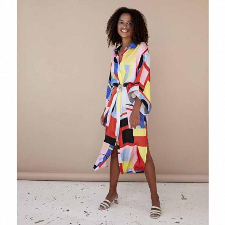 Hunkøn Kimono, Raquel, Square Art Print Hunkøn tøj på model