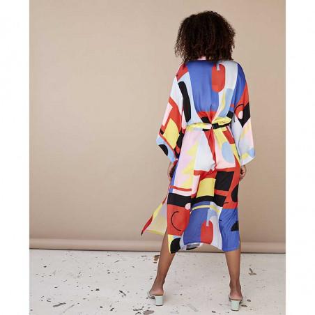 Hunkøn Kimono, Raquel, Square Art Print Hunkøn tøj ryg