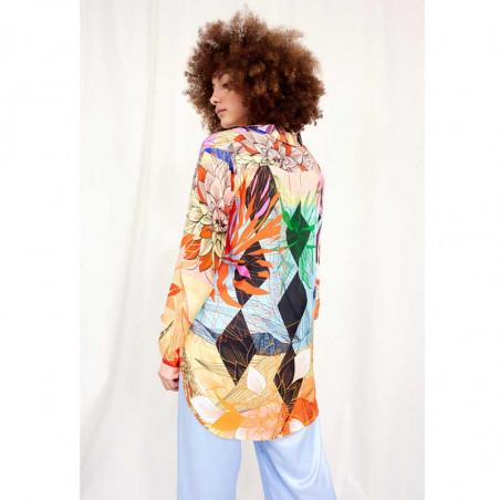 Hunkøn Skjorte, Alicia, Multi Art Print Hunkøn tøj set bagfra