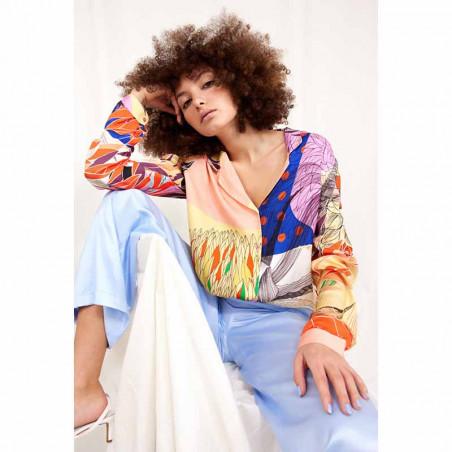Hunkøn Skjorte, Alicia, Multi Art Print Hunkøn tøj look