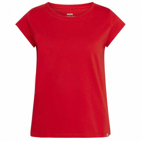 Mads Nørgaard T-Shirt, Teasy Organic Favorite, Fiery Red