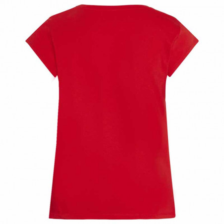 Mads Nørgaard T-Shirt, Teasy Organic Favorite, Fiery Red ryg