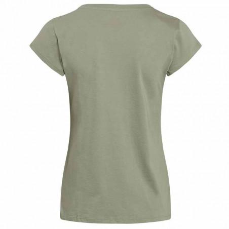 Mads Nørgaard T-Shirt, Teasy Organic Favorite, Light Army ryg