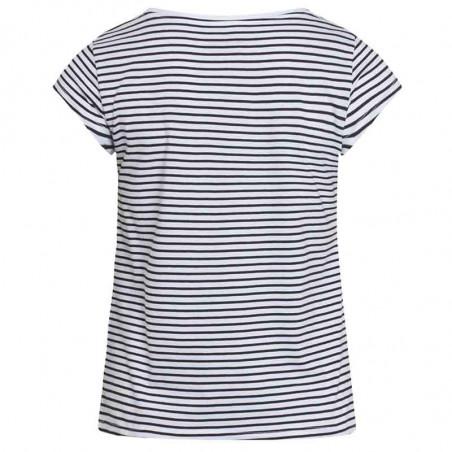 Mads Nørgaard T-Shirt, Teasy Organic Favorite Stripe, White/Black ryg